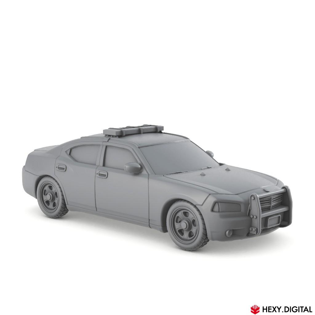 Modern Police Car