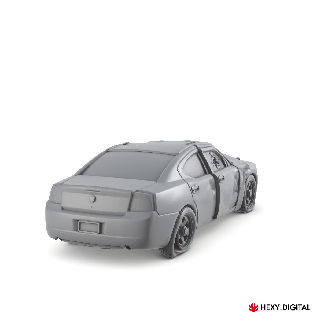Crashed Modern Police Car