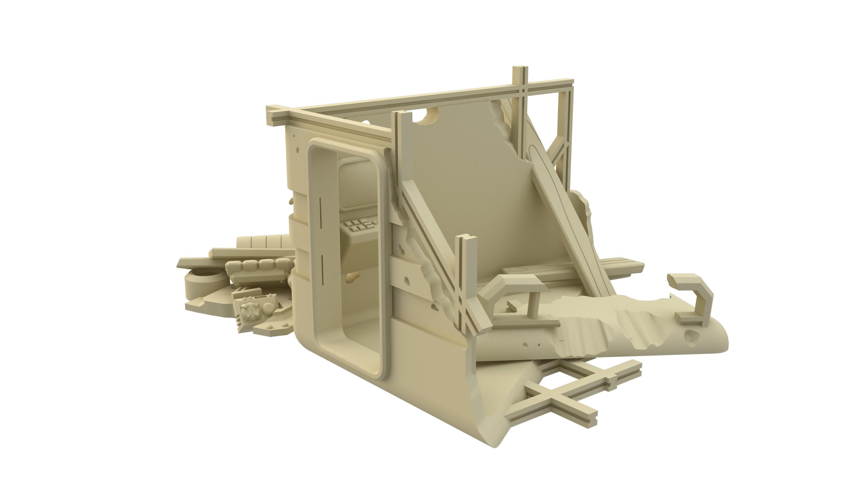 Damaged Living Pod - 3d Printable Stl file